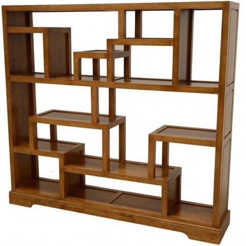 Etagère Destructurée Style Contemporain Bois Massif Mahon | www.cosy-home-design.fr
