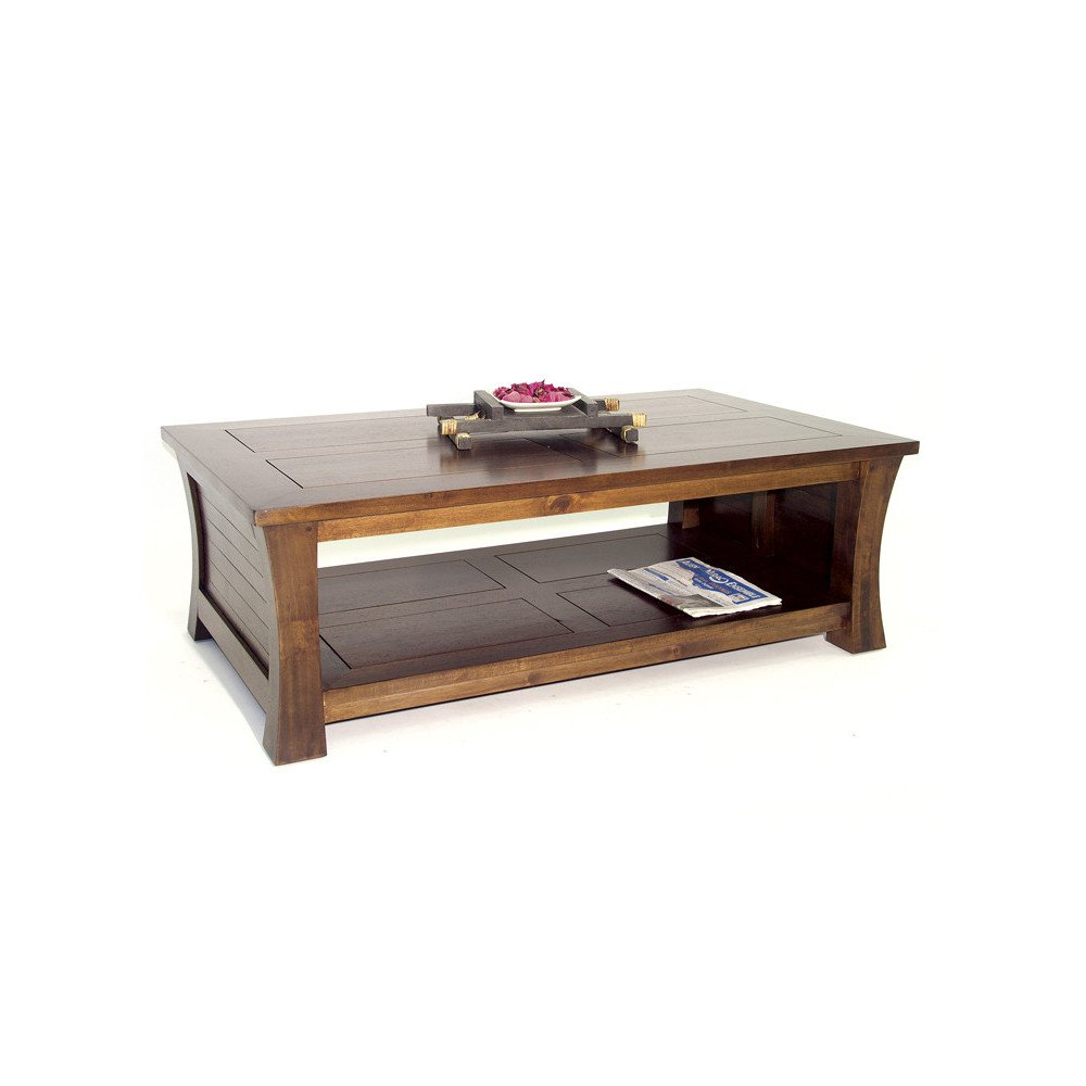 Table Basse Style Asiatique Bois Massif Ying | www.cosy-home-design.fr