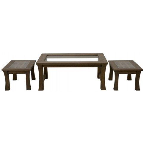 Set de 3 Tables Basses Style Asiatique Bois Massif Ying | www.cosy-home-design.fr
