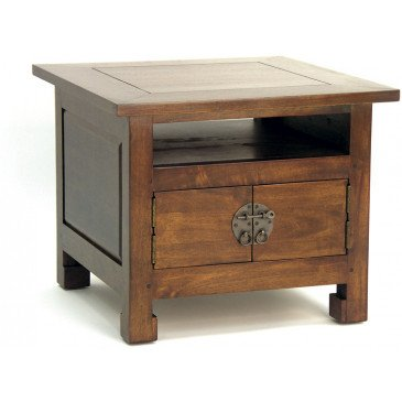 Table Basse Style Asiatique 4 Portes Bois Massif Beijing | www.cosy-home-design.fr