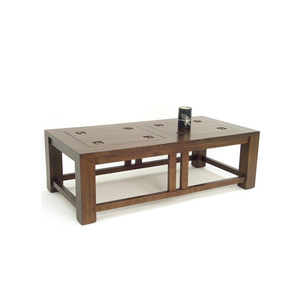 Table Basse Style Ethnique Bois Massif Aloha   www.cosy-home-design.fr