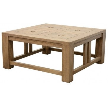 Table Basse Style Ethnique Bois Massif Aloha | www.cosy-home-design.fr
