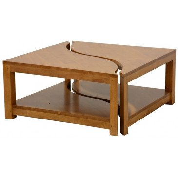 Table Basse Style Ethnique Bois Massif Samoa | www.cosy-home-design.fr