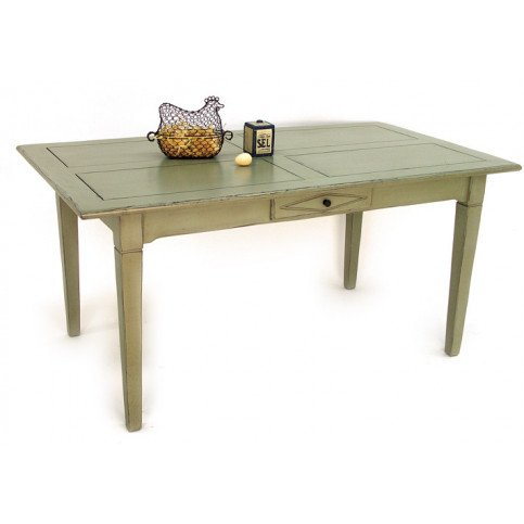 Table de Repas Style Campagne 2 Tiroirs Bois Massif Cottage   www.cosy-home-design.fr