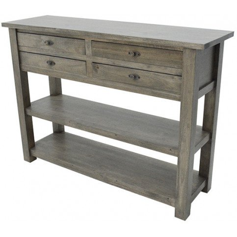 Console Style Campagne 4 Tiroirs Bois Massif Valley   www.cosy-home-design.fr