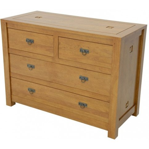 Commode Style Ethnique 4 Tiroirs Bois Massif Aloha | www.cosy-home-design.fr