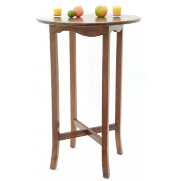 Table de Bar Style Ethnique Bois Massif Samoa | www.cosy-home-design.fr