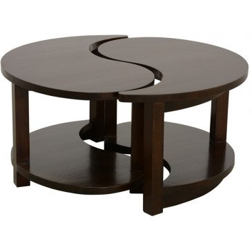 Table Basse Style Asiatique Bois Massif Beijing | www.cosy-home-design.fr