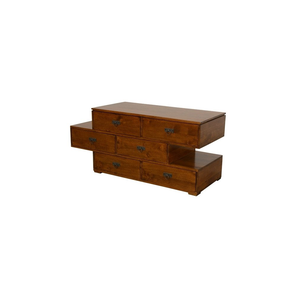 Commode Style Classique 6 Tiroirs Bois Massif Bruges   www.cosy-home-design.fr