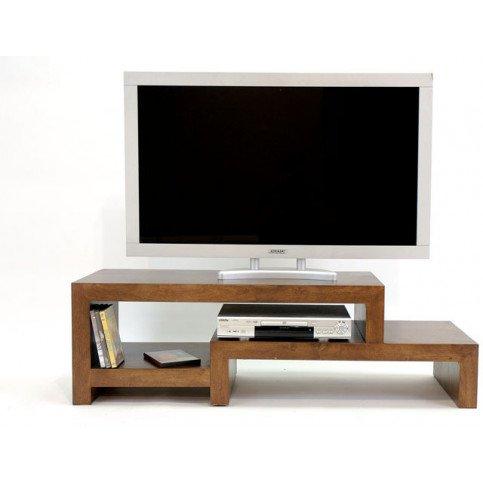 Meuble TV Style Contemporain Bois Massif Mahon | www.cosy-home-design.fr