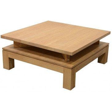 Table Basse Style Contemporain Bois Massif Mahon | www.cosy-home-design.fr
