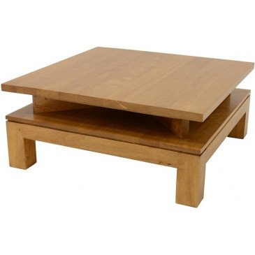 Table Basse Style Contemporain Bois Massif Mahon | www.cosy-home-design.fr