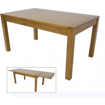 Table de Repas à rallonges Style Contemporain Bois Massif Tribeca | www.cosy-home-design.fr