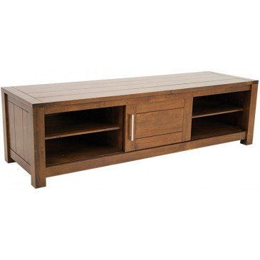 Meuble TV Style Contemporain 1 Porte Bois Massif Tribeca | www.cosy-home-design.fr