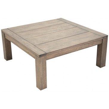 Table Basse Style Contemporain Bois Massif Tribeca | www.cosy-home-design.fr