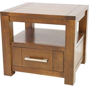 Chevet Style Contemporain 1 Tiroir Bois Massif Tribeca | www.cosy-home-design.fr