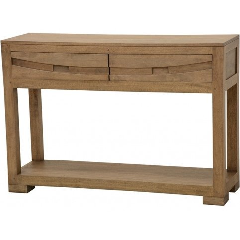 Console Style Ethnique 2 Tiroirs Bois Massif Kenya | www.cosy-home-design.fr