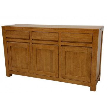 Buffet Style Scandinave 3 Tiroirs 3 Portes Bois Massif Skur | www.cosy-home-design.fr