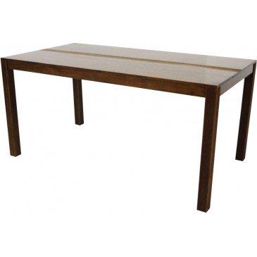 Table de Repas Style Ethnique Bois Massif Macenta | www.cosy-home-design.fr