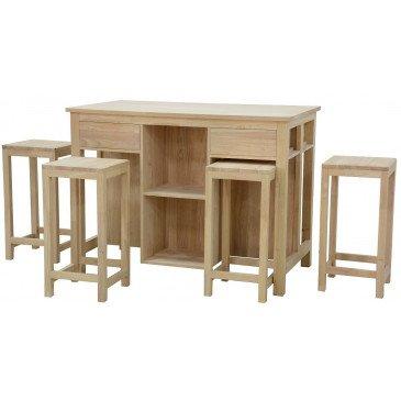 Table à Manger Style Moderne Bois Massif Erin | www.cosy-home-design.fr