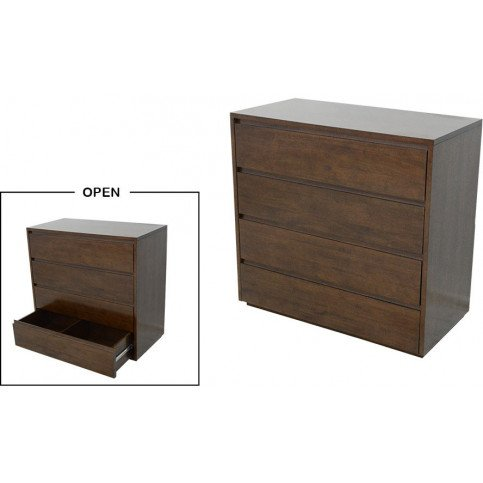 Commode Style Scandinave 4 Tiroirs Bois Massif Skur | www.cosy-home-design.fr