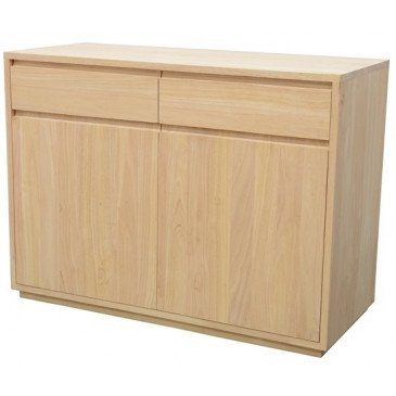 Buffet Style Scandinave 2 Tiroirs Bois Massif Skur | www.cosy-home-design.fr