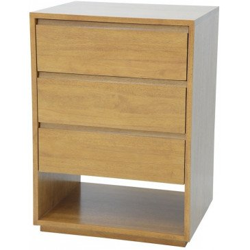 Commode Style Scandinave 3 Tiroirs Bois Massif Skur | www.cosy-home-design.fr