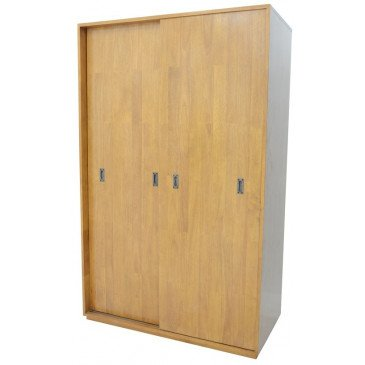 Armoire Style Scandinave 2 Portes Bois Massif Skur | www.cosy-home-design.fr