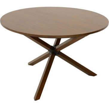 Table à Manger Ronde Style Scandinave Bois Massif Skur | www.cosy-home-design.fr