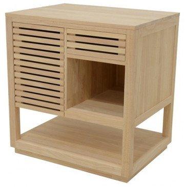 Meuble pour Vasque de Salle de Bain Style Classique 1 Tiroir Bois Massif Balnea | www.cosy-home-design.fr