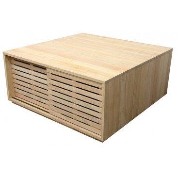 Table Basse Style Classique 4 Portes Bois Massif Orléans | www.cosy-home-design.fr