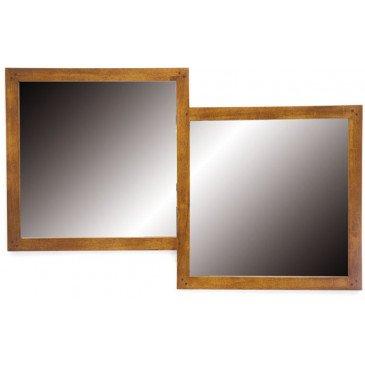 Miroir Double Style Contemporain Bois Massif Mahon