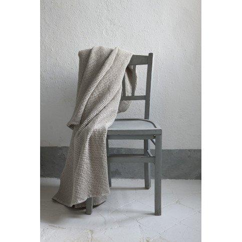 Plaid Stonewashed Maia Blanc 140 x 200