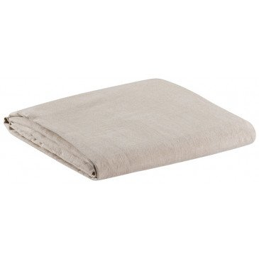 Drap Housse Stonewashed Zeff/ Zephyr Naturel 140x190 Bonnet 30cm
