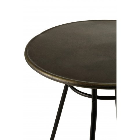 Table Bar Industriel Métal Noir