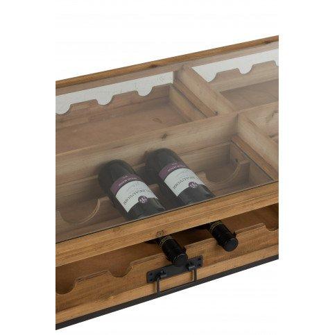 Table Basse Pour Bouteilles Vin Bois Naturel