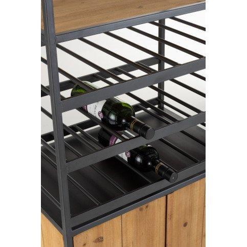Armoire Pour Bouteilles+Verres A Vin Métal/Bois Naturel