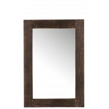 Miroir Rectangulaire Paulownia Marron Foncé