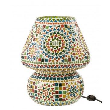 Lampe Table Eki Mosaique Verre Mix Large