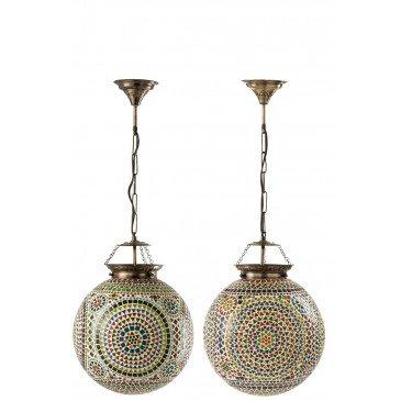 Lampe Suspendue Eki Mosaique Verre Mix Large Assortiment 2