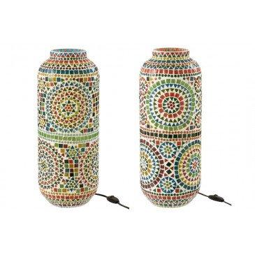 Lampe Eki Mosaique Verre Mix Assortiment 2