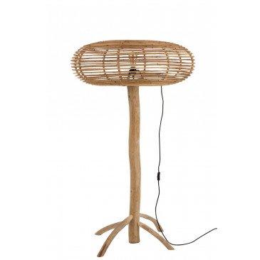Lampe Sur Pied Miye Rotin/Teck Naturel Large