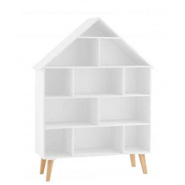 Étagère Maison Sur Pied 5 Planches Mdf/Contreplaqué Blanc