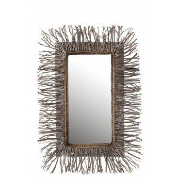 Miroir Rectangulaire Branche Bois Grey Wash