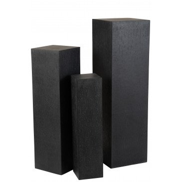Colonne Rectangulaire Argile Noir Large