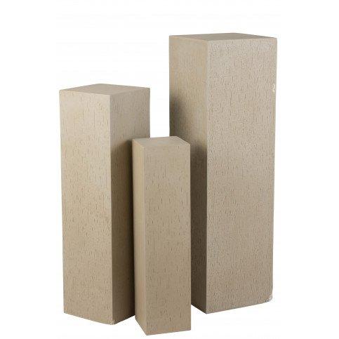 Colonne Rectangulaire Argile Beige Large