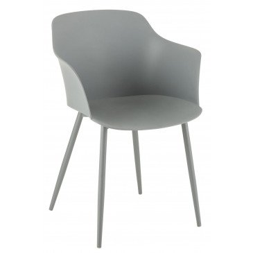 Chaise Cuve Pp Gris