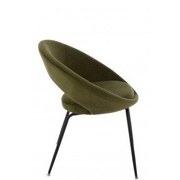 Chaise Ronde Métal Trou Métal/Textile Vert