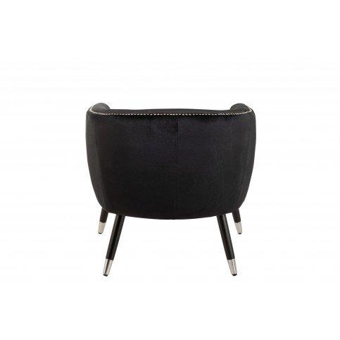 Fauteuil Cuve Emy Bois/Tissu Noir