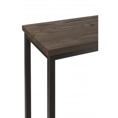Table Bar Rectanglaire Métal/Bois Marron